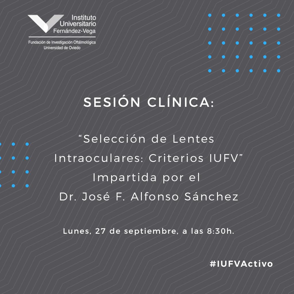 sesión clínica Dr. José F. Alfonso Sánchez 27 septiembre