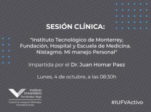 Sesión Clínica Dr. Juan Homar Paez